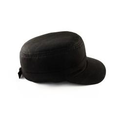 Czapka Patrolówka Czarna Bawełna