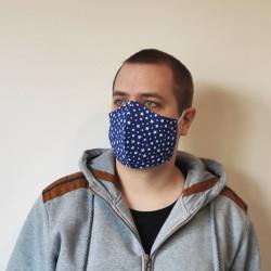 Maseczka Profilowana Błękitna Bawełna
